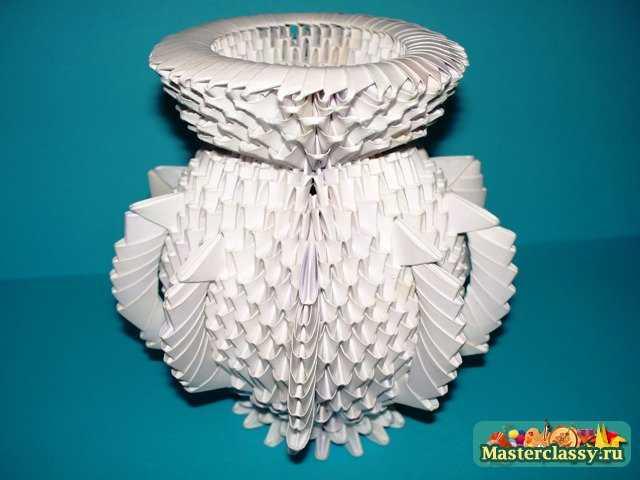 Сборка модулей оригами ваза