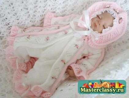 """На нашем женском портале  """"Дамочка """" Вы всегда найдете публикацию - вязание спицами для новорожденных со схемами и..."""