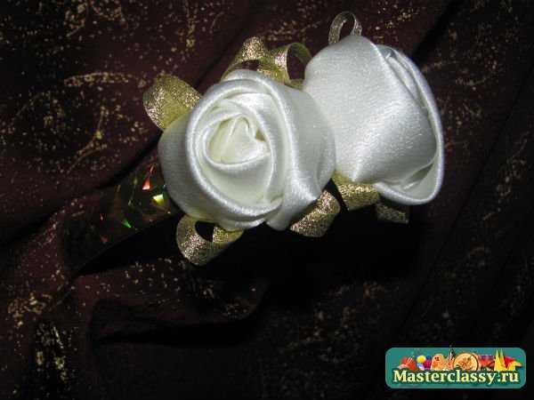 ободок с розами своими руками