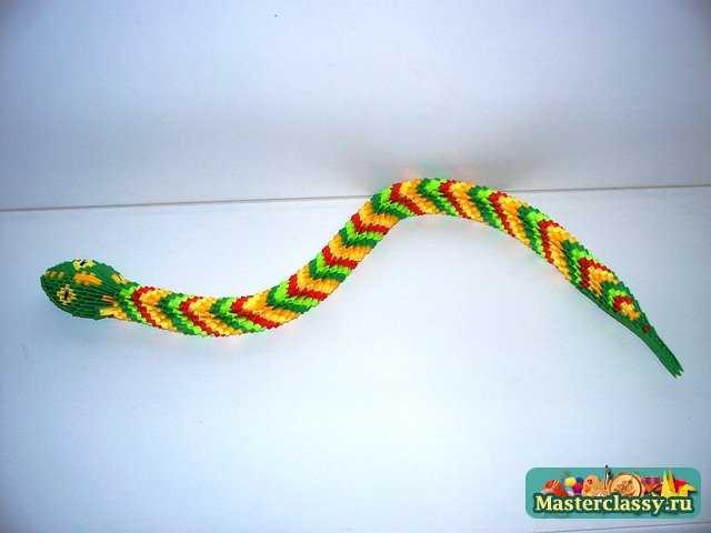 А также использования куска проволоки, для фиксации изгиба змеи. оригами.  Коллекция змей, представленных на этом...