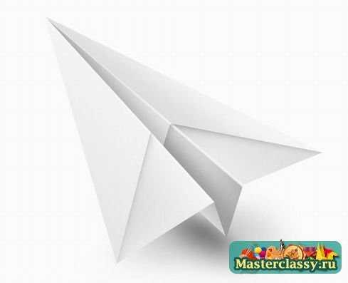 Самолет из бумаги. Оригами
