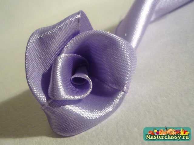Вышивка лентами. Фиолетовая фантазия