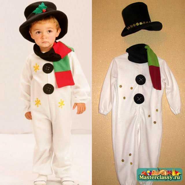 Новогодний костюм для мальчика снеговик мастер класс