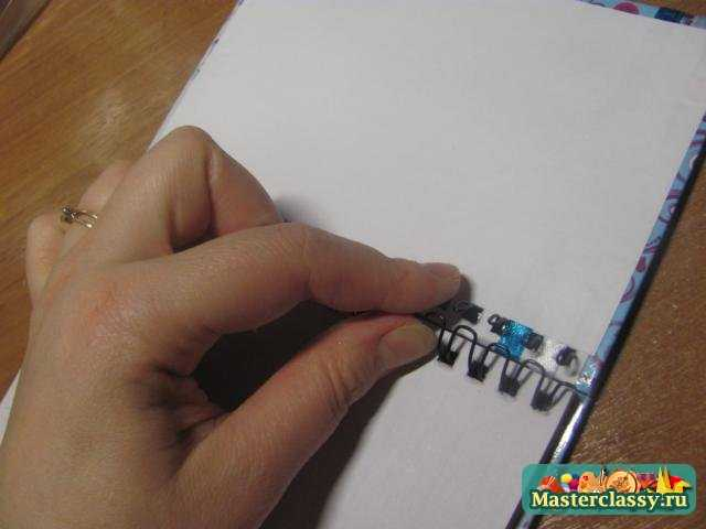 Как сделать блокнот своими руками на пружинах