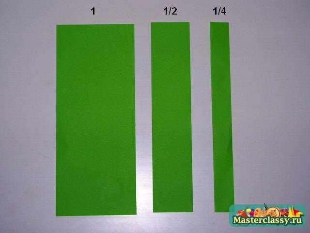 Как сделать стебель из бумаги