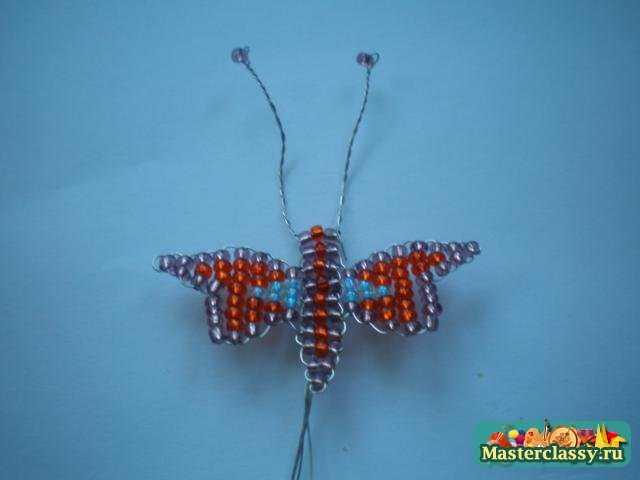 Бабочка из бисера Мастер класс.