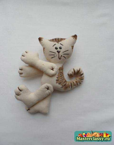 Кот с сердечком мастер класс 6