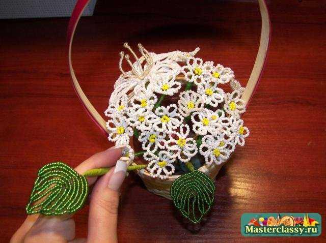 Цветы из бисера своими руками.