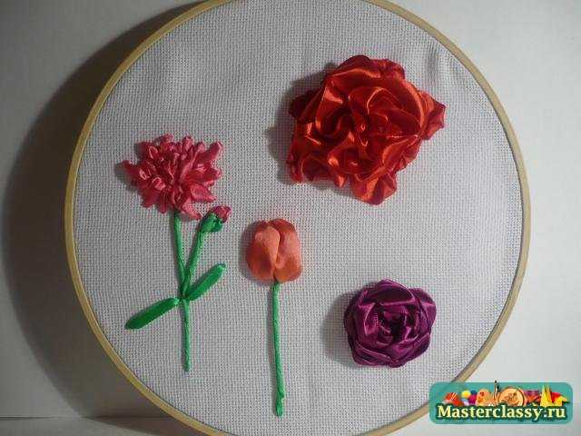 по вышивке цветов атласными лентами Вышивка прикреплеш еще в галереях.
