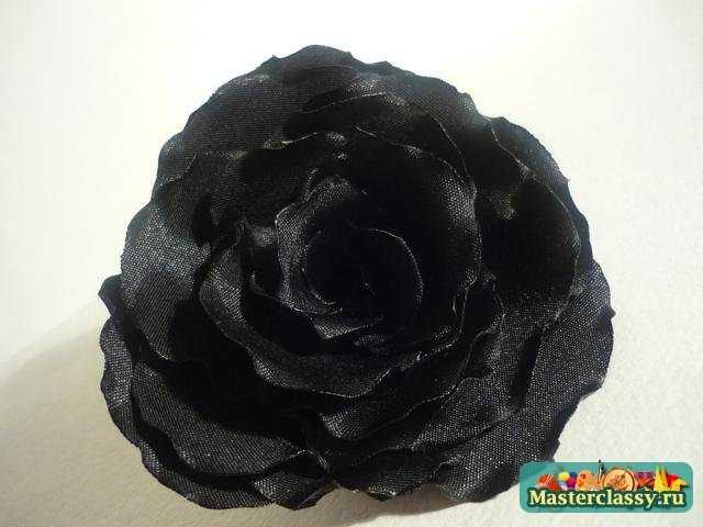 Черная роза своими руками 74