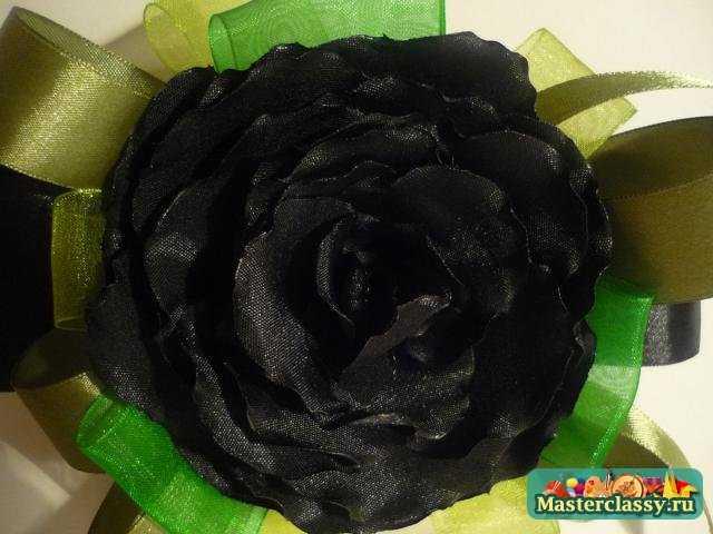 Черная роза своими руками 52