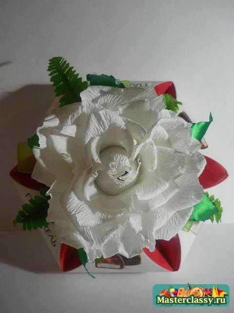 цветы из бумаги роза мастер класс