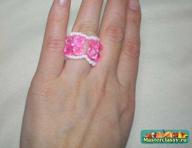 Кольцо из бисера Мастер класс.