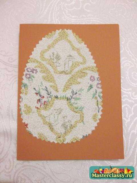 Пасхальная открытка. Яйцо с цветочком