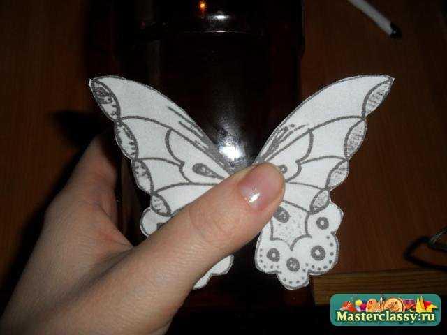 Бабочка из бумаги своими руками трафарет