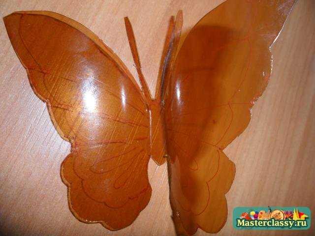 Мастер класс бабочка из пластиковой бутылки своими руками