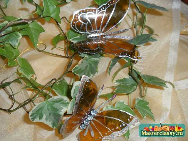 Бабочки из пластиковой бутылки. Мастер класс