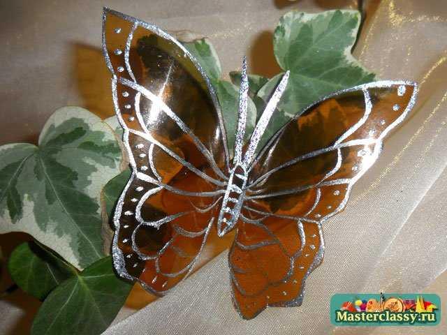 Бабочка из пластиковой бутылки пошагово