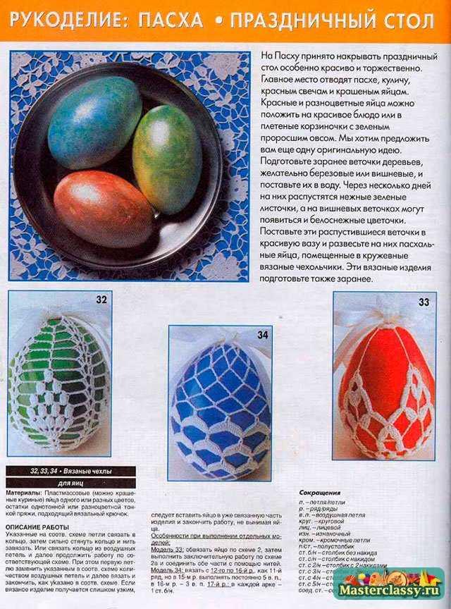 Вязание на Пасху. Чехлы для яиц