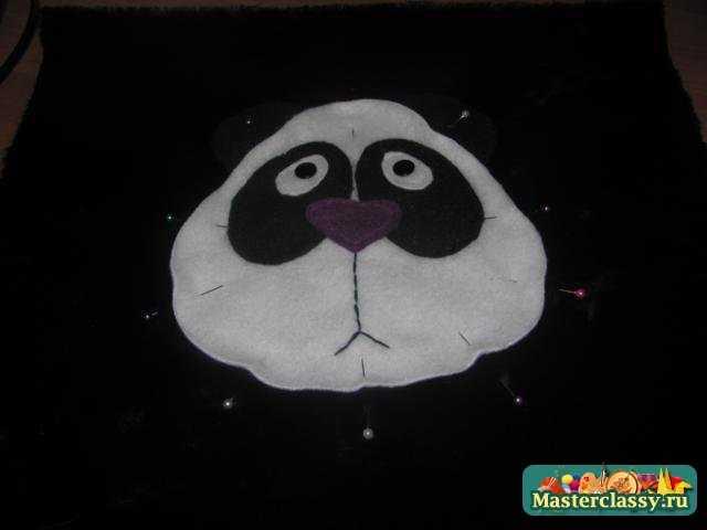 пришиваем мордочку панды