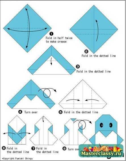 Пингвин из бумаги. Схема
