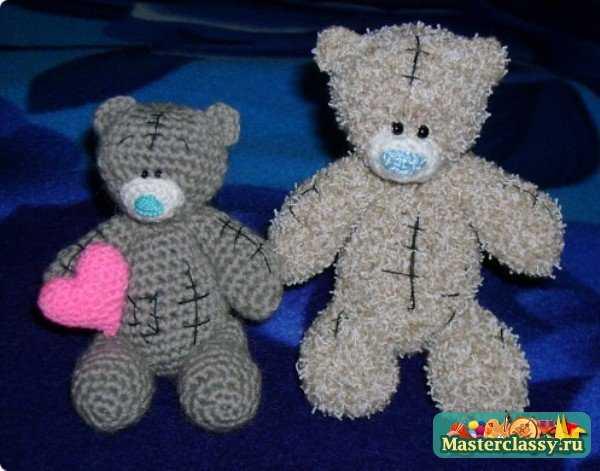 два вязаных медведя
