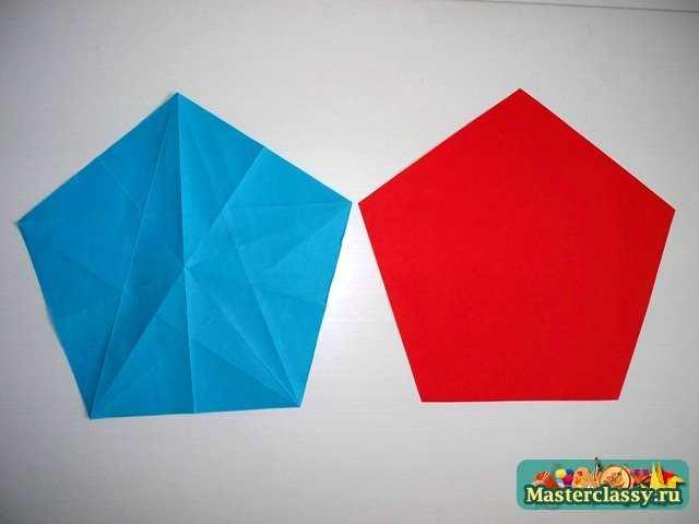 Как из бумаги сделать пятиугольник из бумаги схема