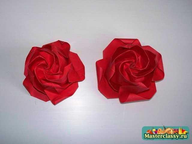 Оригами роза пять лепестков