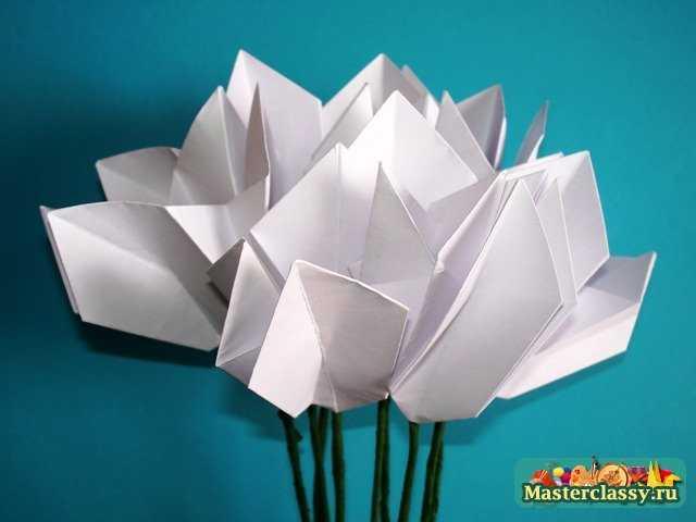 Цикламен оригами. Сборка