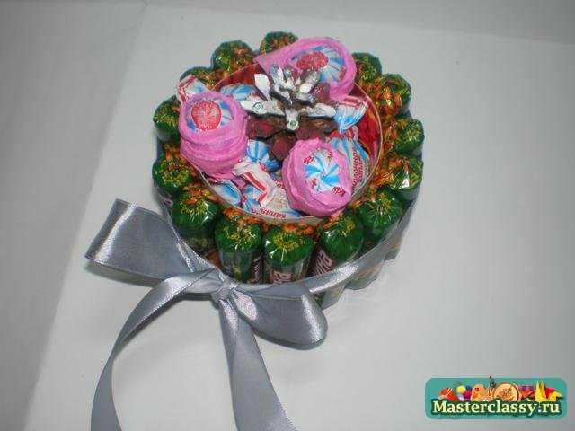 Букет из конфет Шкатулка