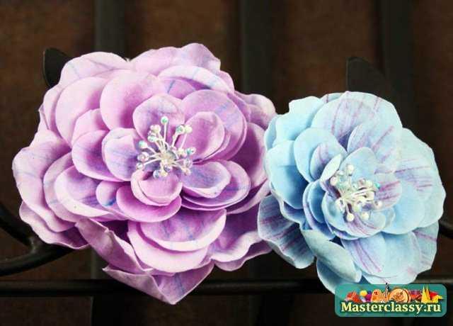 Цветы в голову из ткани своими руками