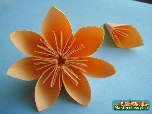 Цветок оригами 7 лепестков.