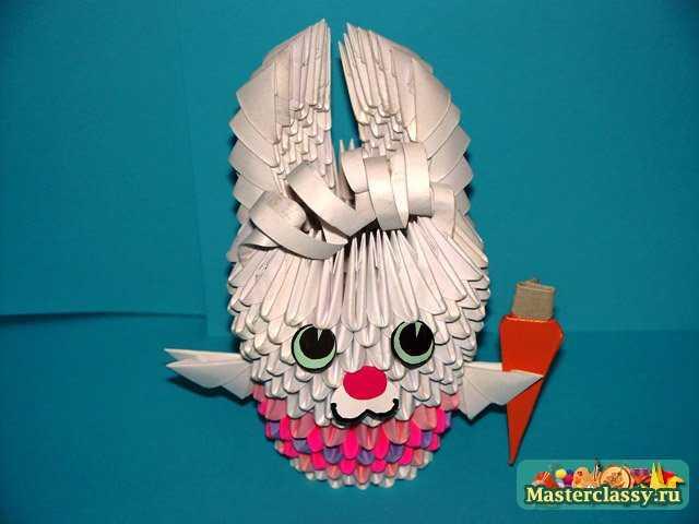 Заяц. Модульное оригами