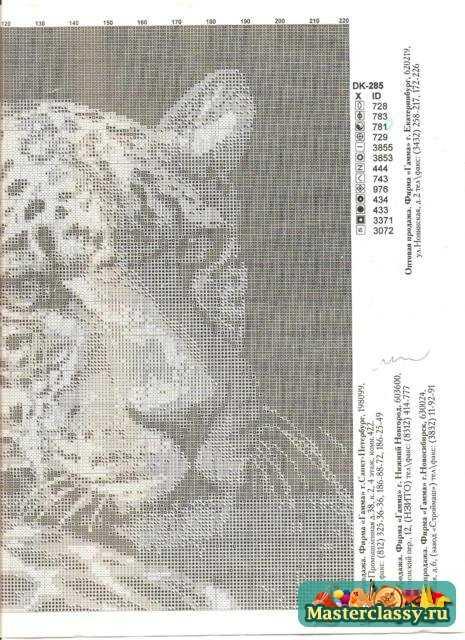 Вышивка картин. Леопард.