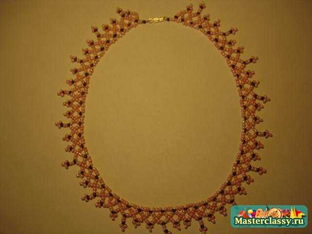 Ожерелье из бисера своими руками.  Мастер класс.