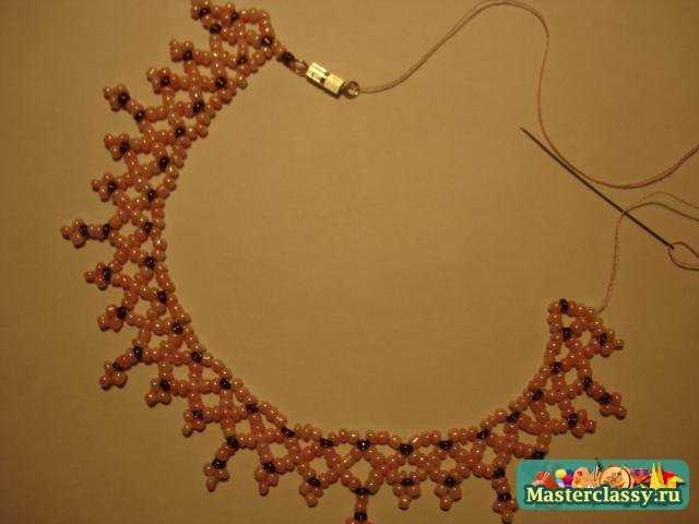 Мастер класс ожерелье из бисера своими руками