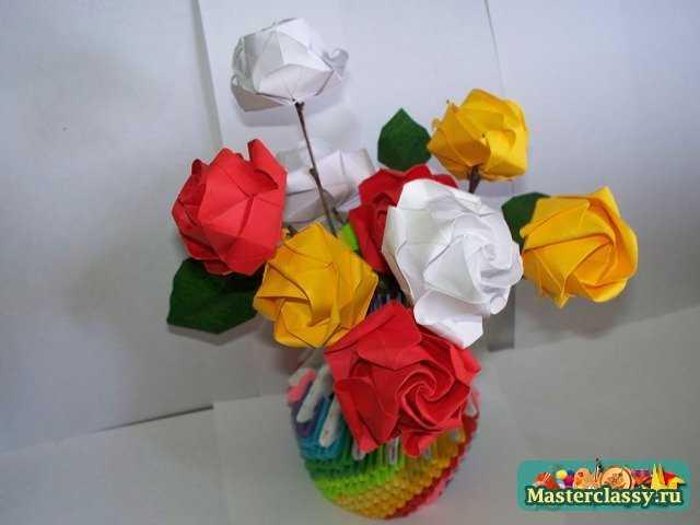 Как сделать розу оригами.  Мастер-класс.