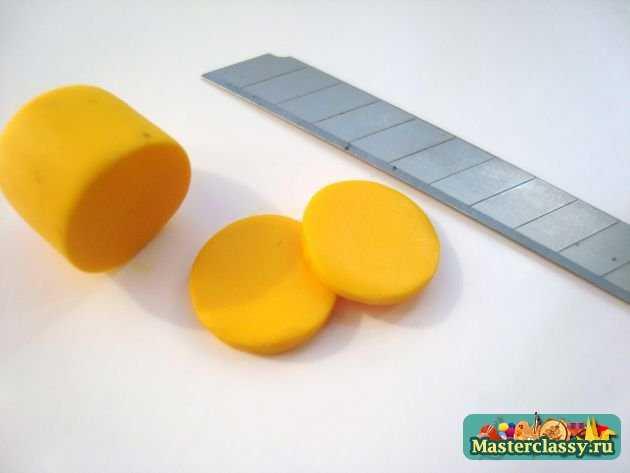 Лимоны серьги из пластики