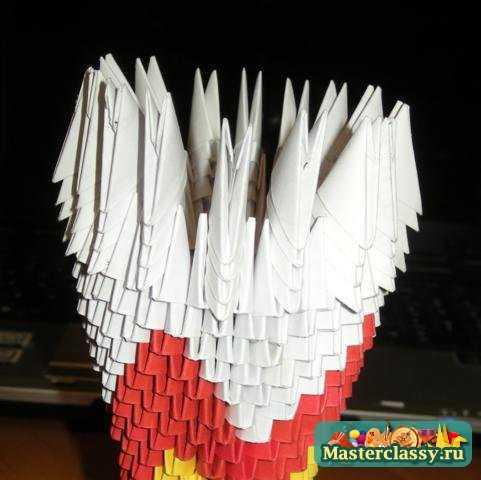 Модульное оригами. Мастер класс. Ваза