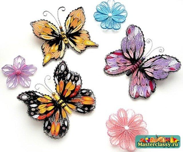 Квилинг. Схемы бабочек