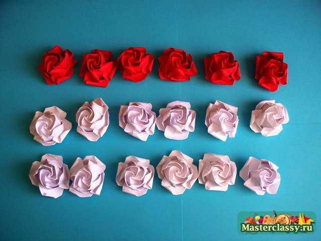 Шар из роз оригами.