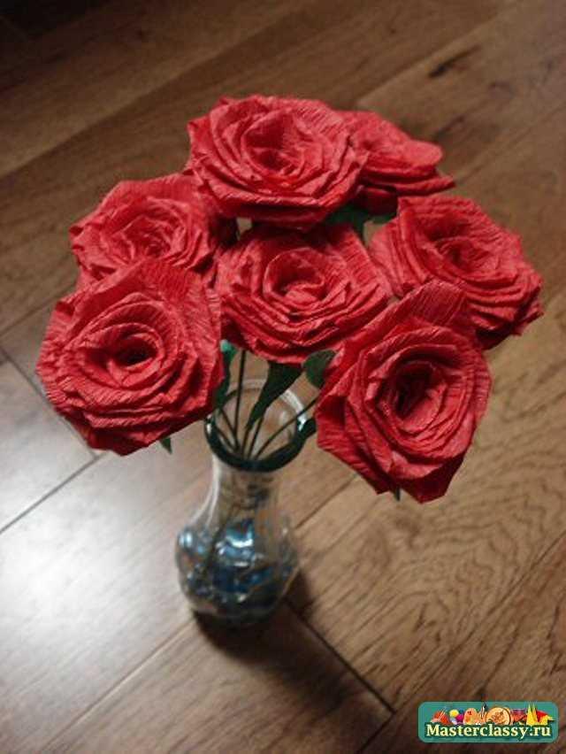 Букет роз из бумаги своими руками как сделать