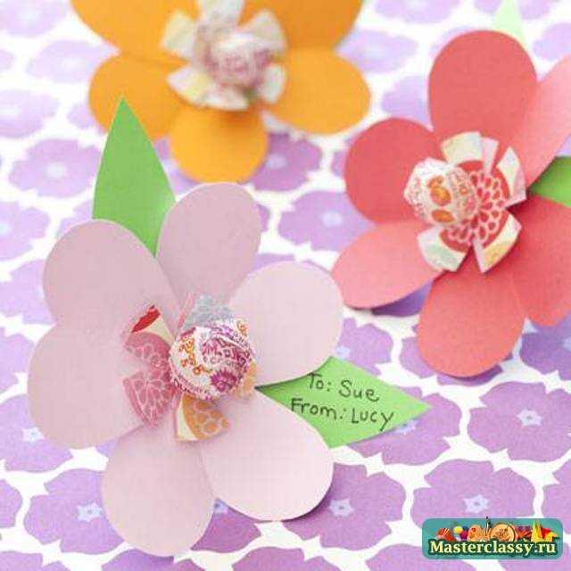 Поделки из цветов из бумаги