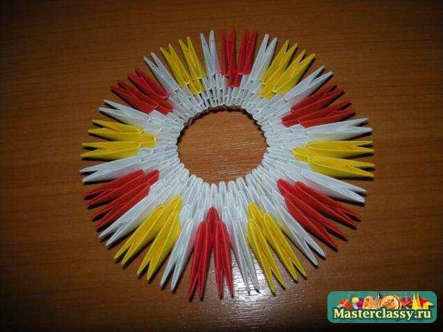Модульное оригами схема конфетницы.