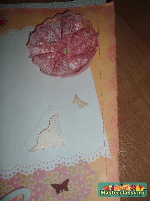 скрапбукинг Фотоальбом для новорожденной девочки. Мастер класс