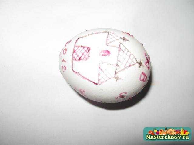 Пасхальное яйцо писанка, выполненное восковой росписью. Мастер класс
