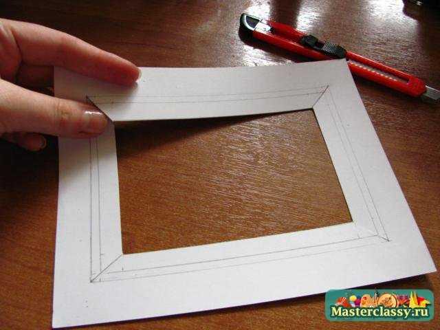 Рамка из бумаги своими руками мастер класс