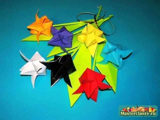 Букет Тюльпанов оригами …