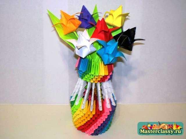 Букет Тюльпанов оригами