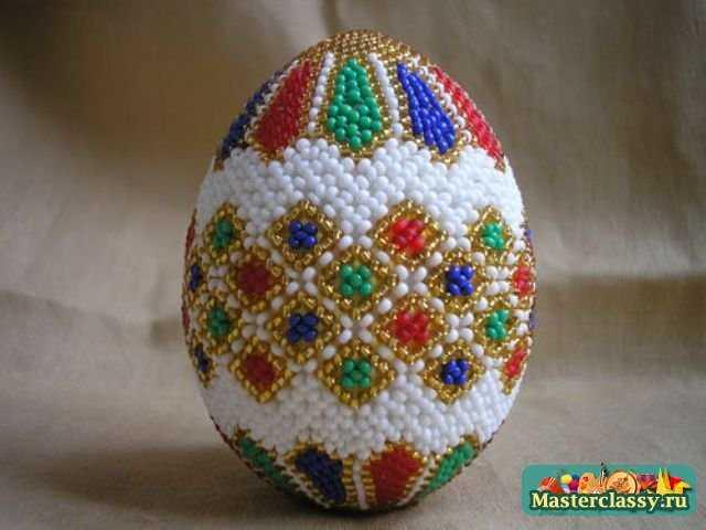 Бисерные яйца... трудоемко, наверное.